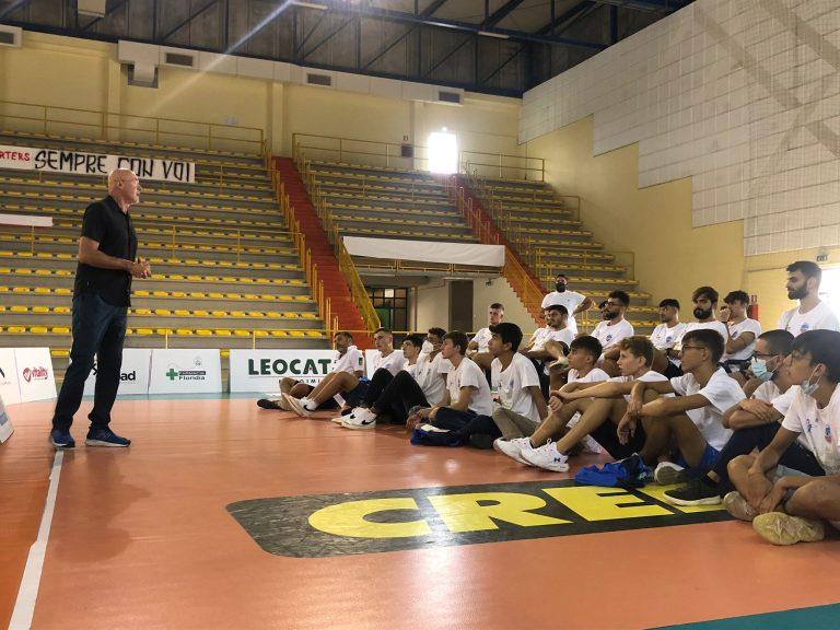 Avimecc Volley Modica, Franco Bertoli in visita alla società e alla squadra